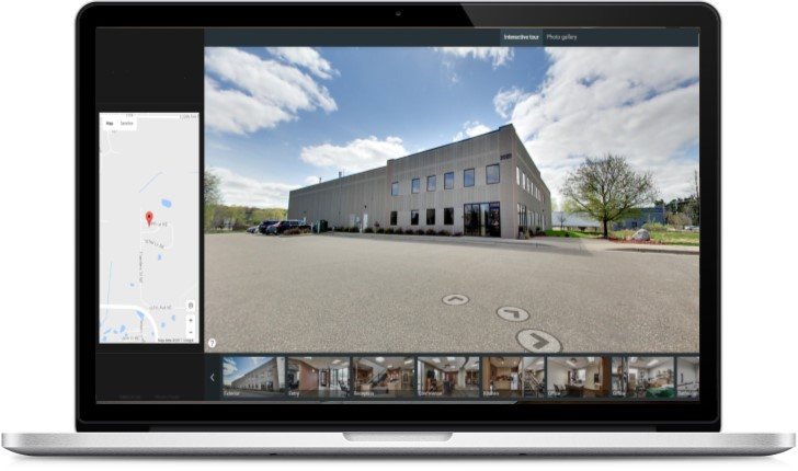 warehouse, industrial, building, 3d, interactive, tour