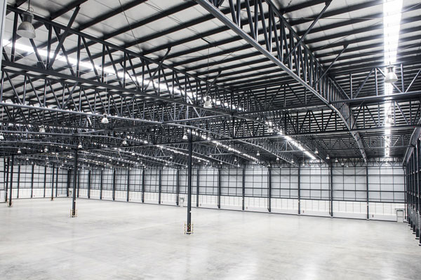 high clear bulk warehouse space